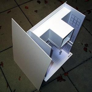 Modell für die Ausstellung im Museumshof