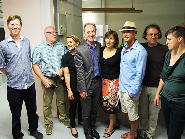 Von links: Niki Passath, Hans Eck, Edith Risse, Franz Stangl, Mirjana Peitler-Selakov, Naoki Fuku und Günther Pedrotti sowie Berna Moser