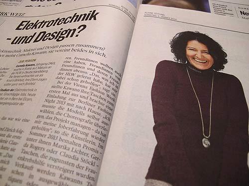 """Eine interessantes Feature in der """"Kleinen Zeitung"""" stellt uns Cornelia Kawann vor"""