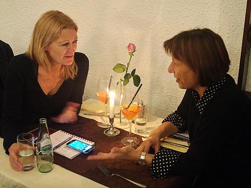 Ursula Glaeser (links) Und Mirjana Peitler-Selakov