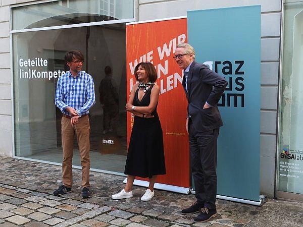 Von links: Christian Mayer, Mirjana Peitler-Selakov und Otto Hochreiter